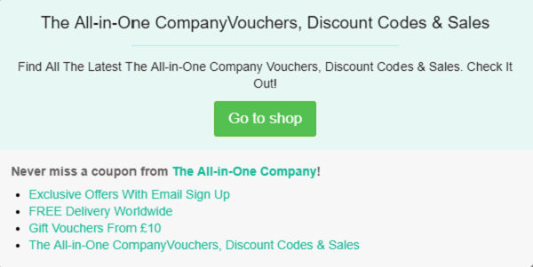 The All-in-One Company discount code