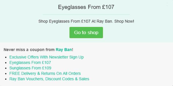 Ray Ban discount code