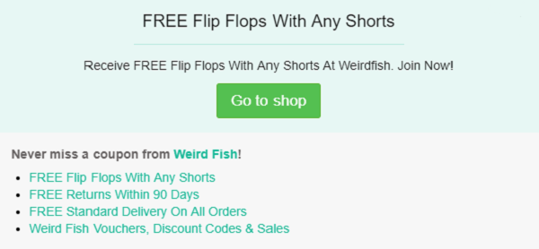 Weird Fish discount code