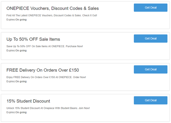 Onepiece discount codes