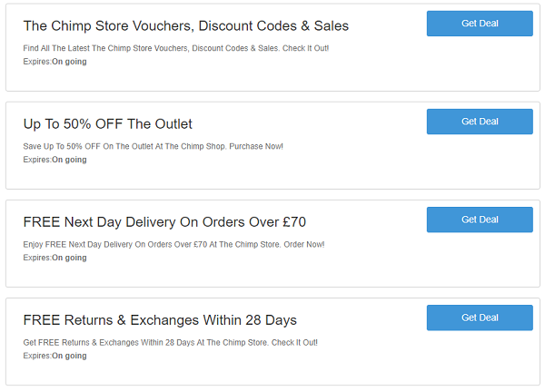 The Chimp Store discount codes
