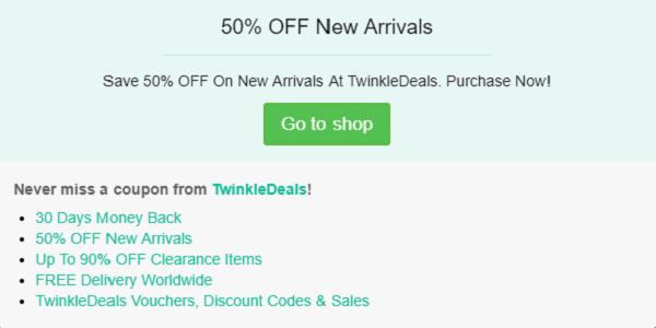 TwinkleDeals coupon code