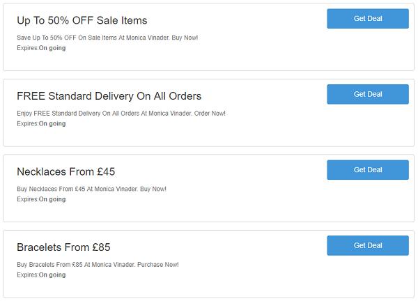 Monica Vinader discount codes