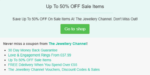 The Jewellery Channel discount code