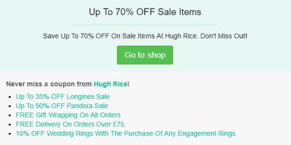 Hugh Rice discount code