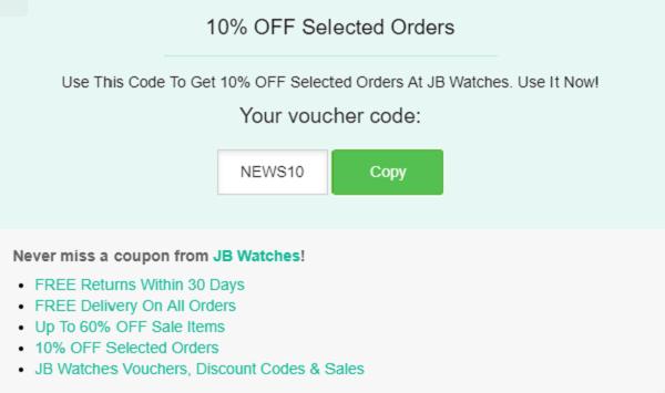 JB Watches discount code