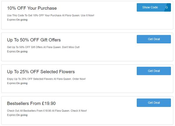 Flora Queen discount codes
