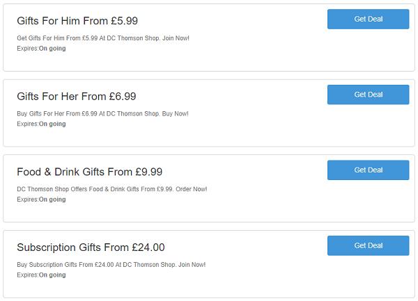 DC Thomson Shop discount codes
