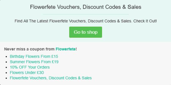 Flowerfete discount code