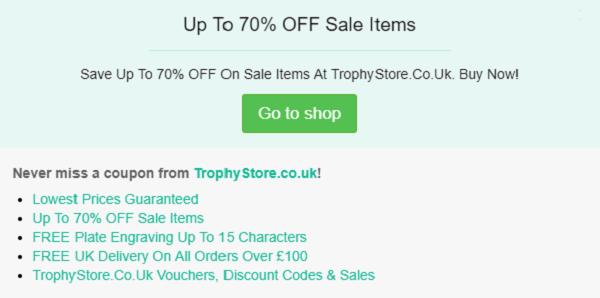 TrophyStore discount code
