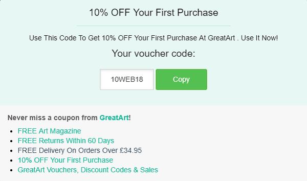 GreatArt discount code