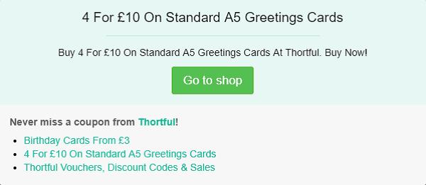 Thortful discount code