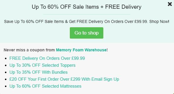 Memory-Foam-Warehouse-NHS Discount