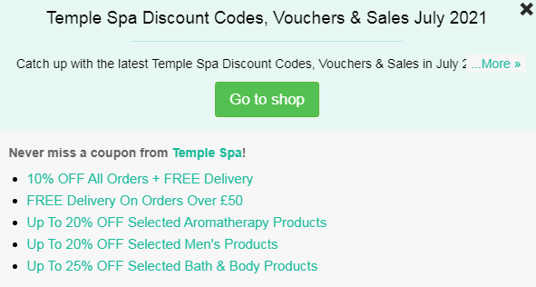 Temple Spa code