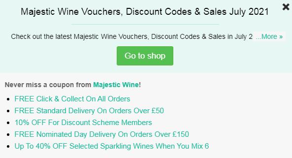 Majestic Wine code