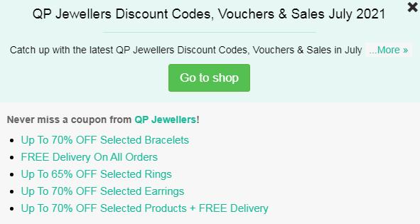QP Jewellery vouchers