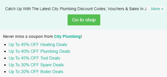 City Plumbing code