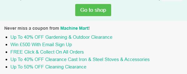 machine mart codes
