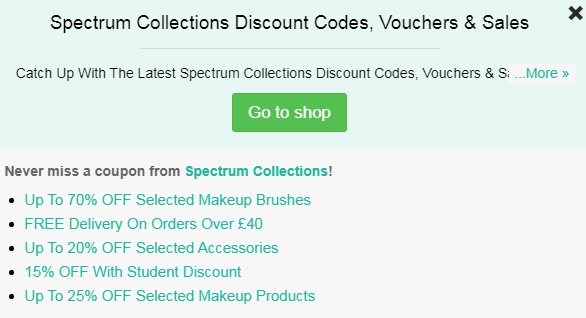 Spectrum collections code