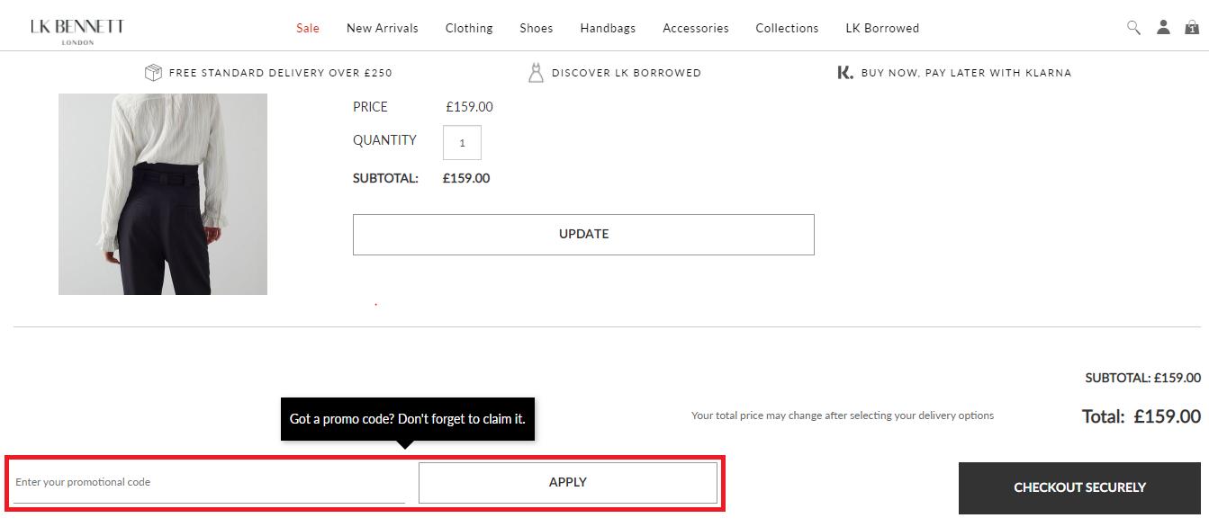 Lk-bennett-enter-discount-code