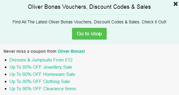 oliver bonas code