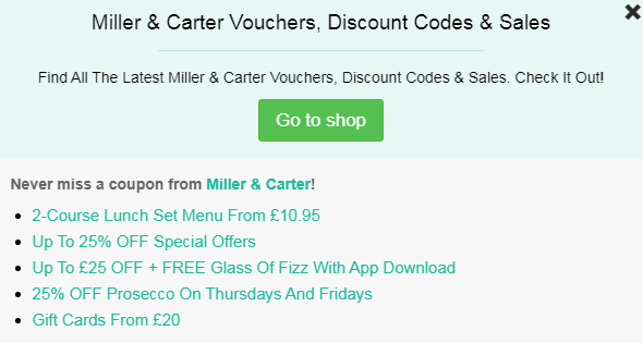 Miller & Carter code