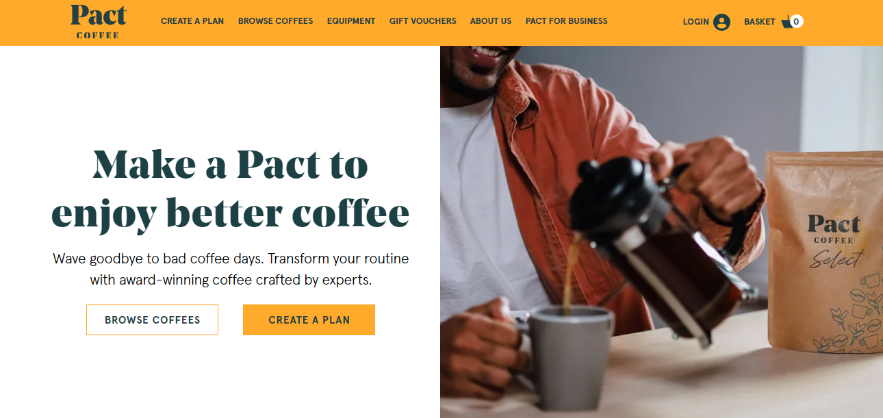 Pact Coffee discount code