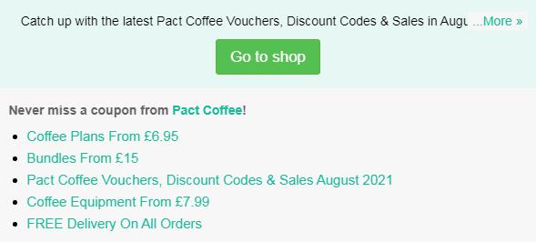 Pact Coffee code
