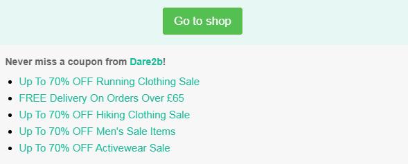 Dare2b code