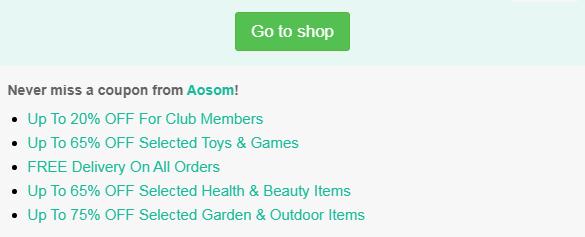 Aosom discount code